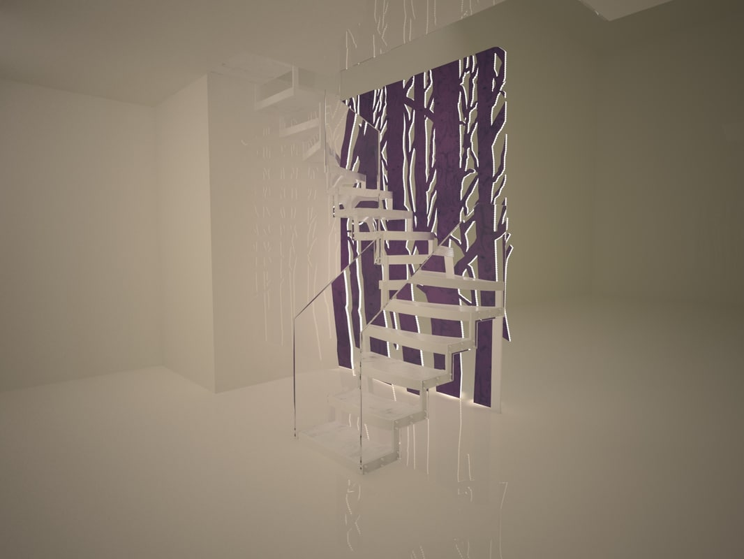 staircase david hockney stairs 3d 3ds