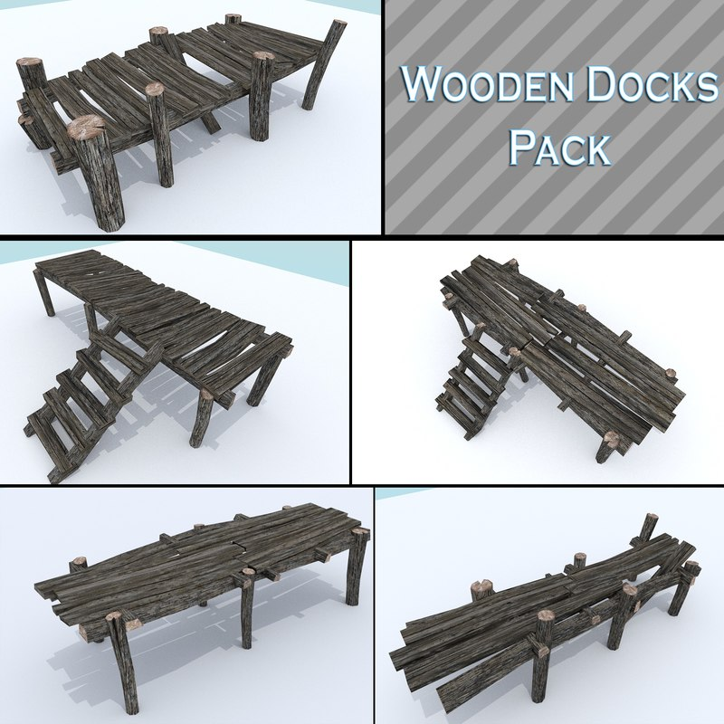 obj pack wooden dock