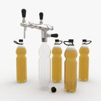 3d model pegas dispensing beer