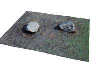 rocks ground scan 3d max