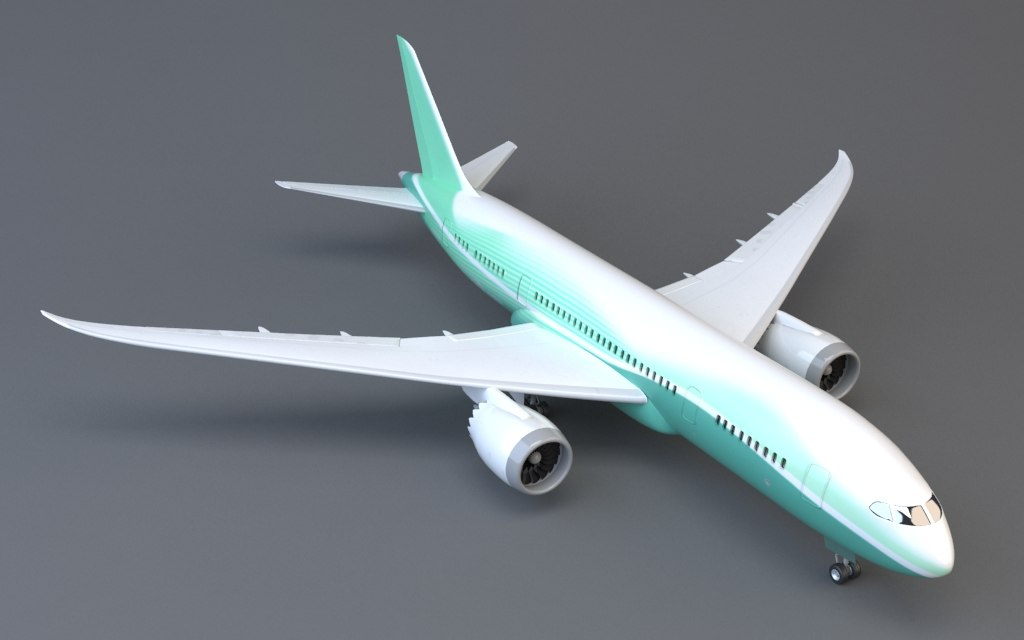 3ds max airplane