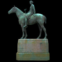 3d amazon statue