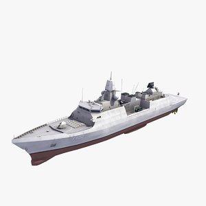 zeven provincian class frigate 3d model