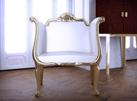 3d model french chair
