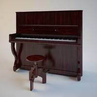 piano 3d obj