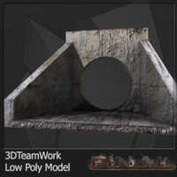 Concrete Pipe 01 Low Poly