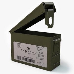 ammunition box v2 3d model