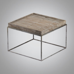 3d model small tray coffee table