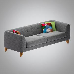 jarle sofa 3 3d obj