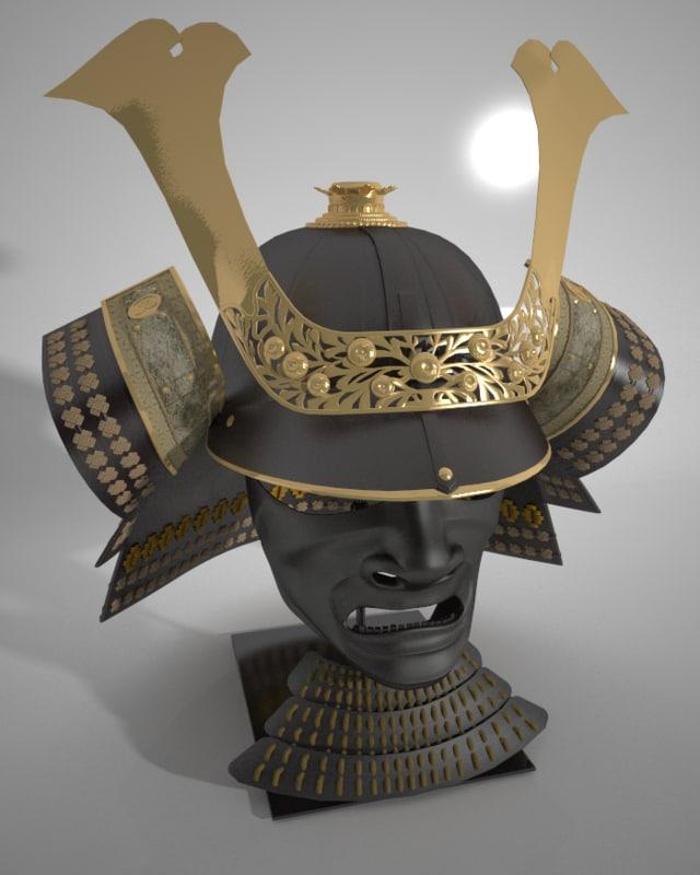 3dsmax samurai armor shogun