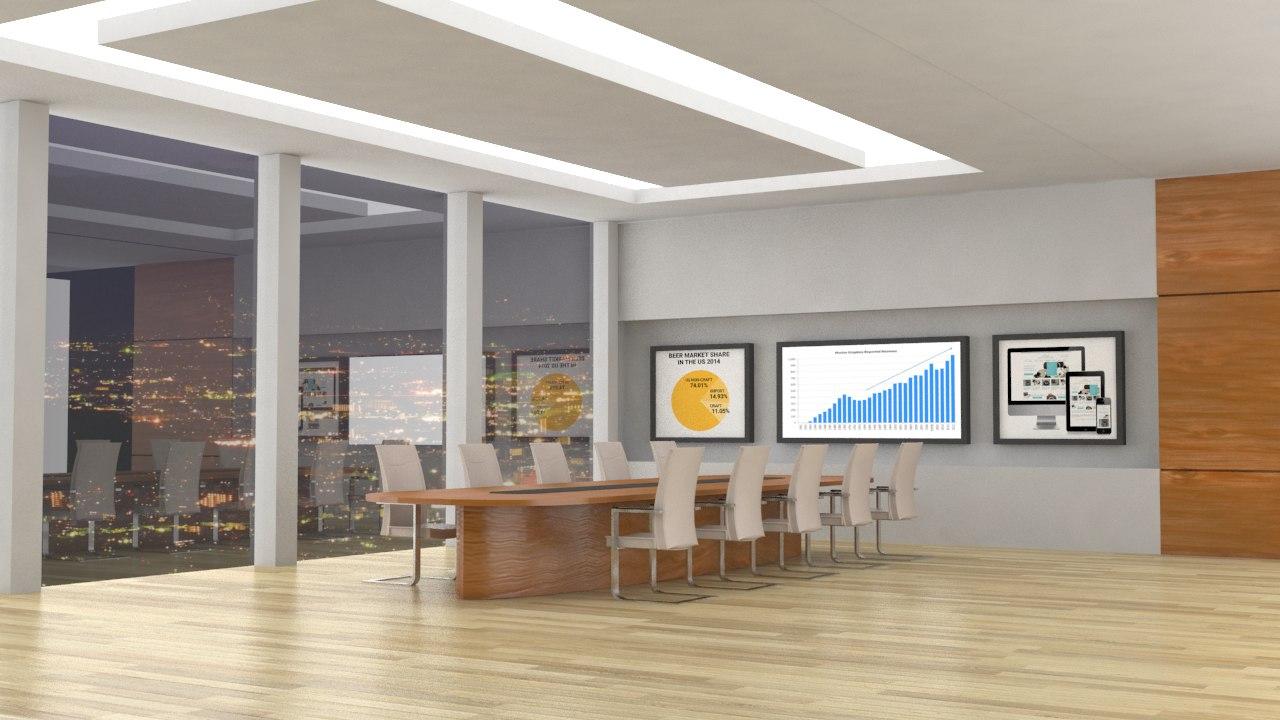 3d model meeting room v2