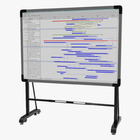 interactive whiteboard mobile stand 3d obj