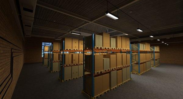 warehouse scene 15 3d 3ds