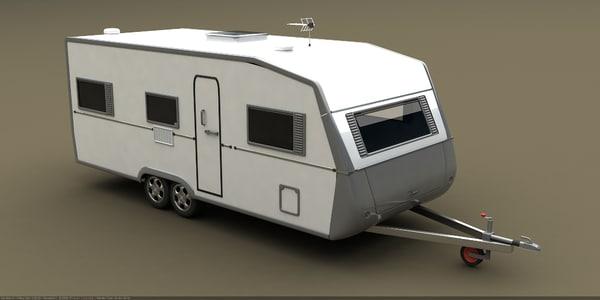 3d model caravan trailer