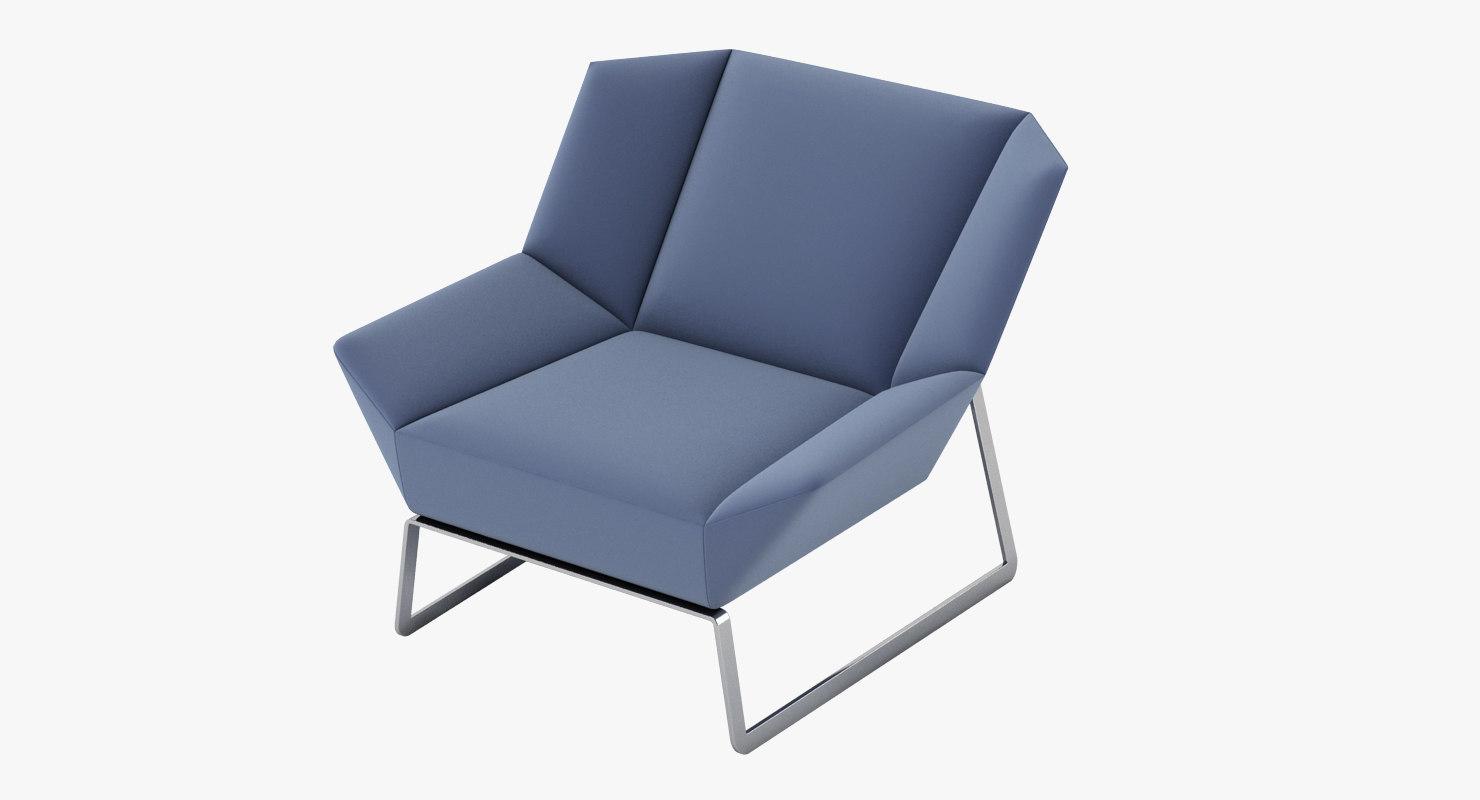 molteni c tight chair 3d fbx