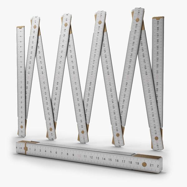 3d model ruler rule