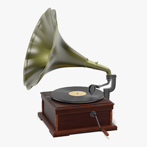 3ds max old gramophone