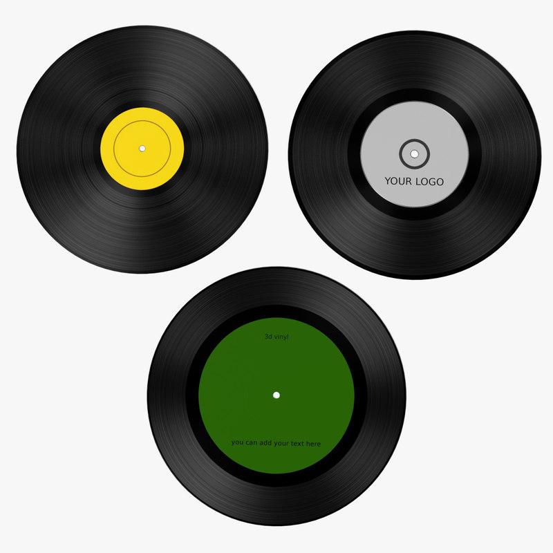 vinyls 3d model