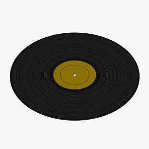 3d vinyl record