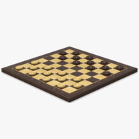 3ds max wood checkerboard objects