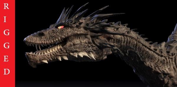 smaug dragon rigged 3d max