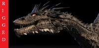 smaug dragon rigged 3d max