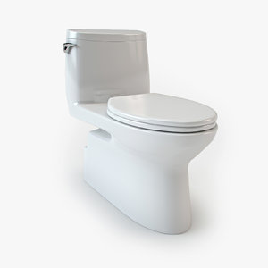3d toto carlyle ii toilet model