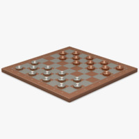 3d copper silver checkerboard
