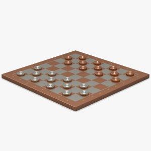 3d copper silver checkerboard