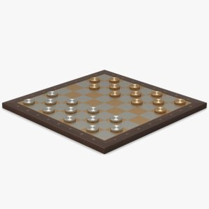metal checkerboard silver 3d max
