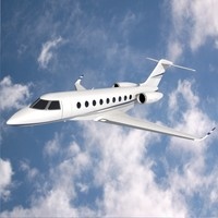 gulfstream private jet 3d model
