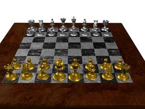 marble chessboard dwg
