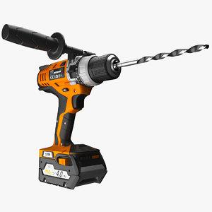 3d model screwdriver aeg bs 18c