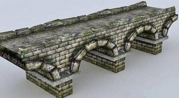 obj stone bridge