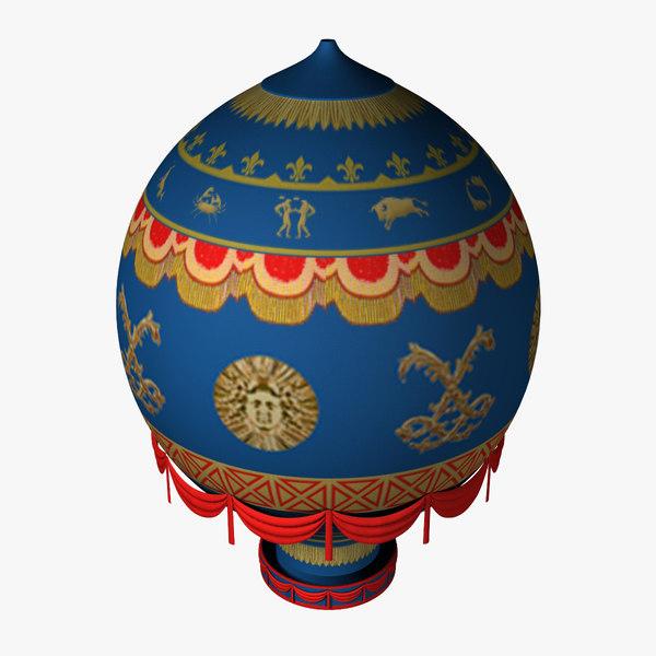 montgolfier hot air 3d model