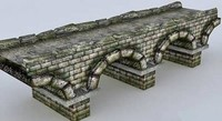 Stone Bridge Low Poly