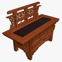 lwo bench oriental