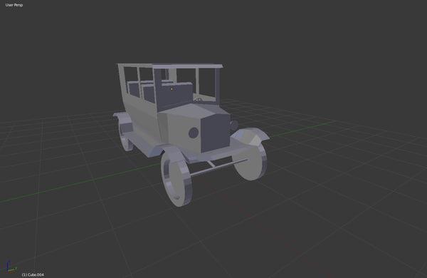 3d 3ds vintage car 1920 s