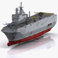 realistic mistral lhd amphibious assault 3d 3ds