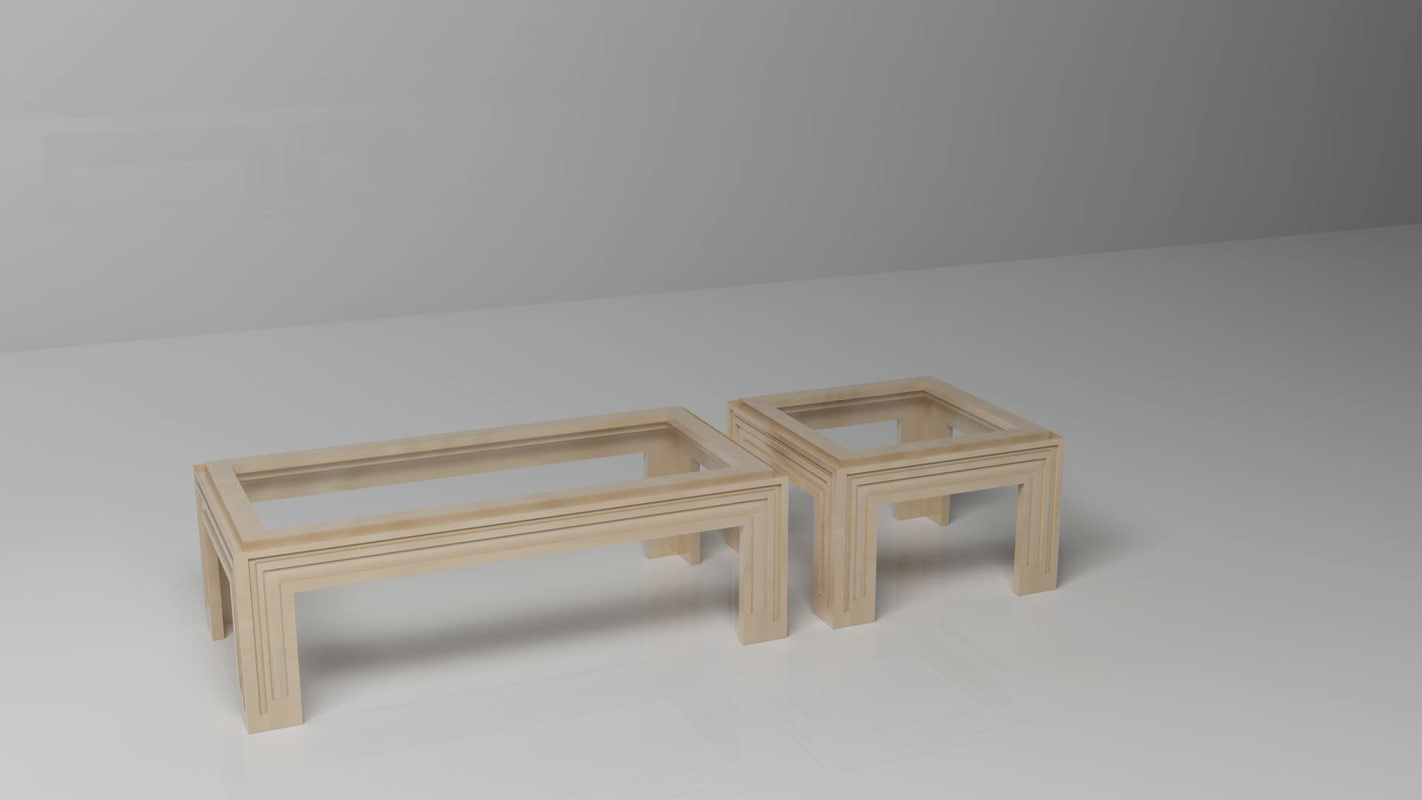 3d model tables wood l