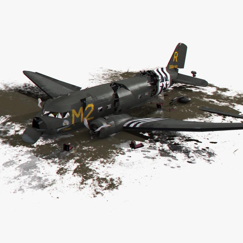 3d dc-3 air crash 3