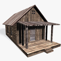 3d model old cottage