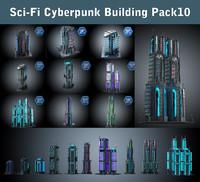 Sci Fi Building  Pack 10
