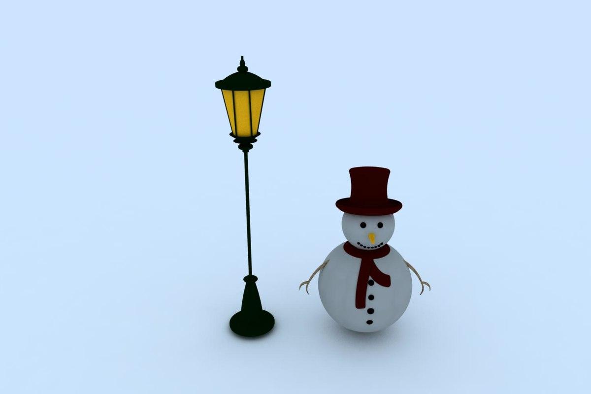snowman snow man 3d max