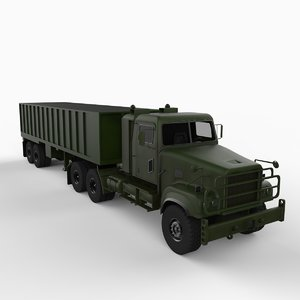 3d m915a5 army truck freight
