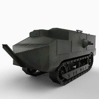 french tank schneider ca1 3d model