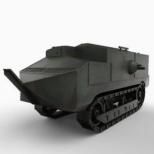 french tank schneider ca1 3d model