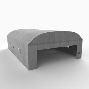 3d ww1 hangar model