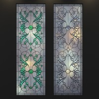 3d model stained-glass frosted glass