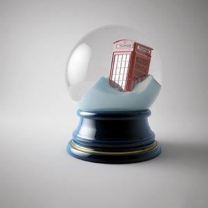 xmas snow globe 3ds